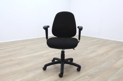 Black Fabric Adjustable Operator Chairs
