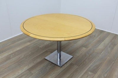 Golden Maple Round Meeting Table 1200mm