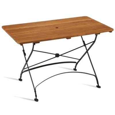 New ARCH Wrought Iron Cafe Bistro Folding Rectangular Table