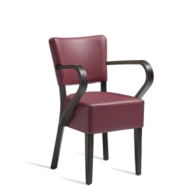 New CLUB Wenge Red high quality faux leather Luxurious Arm chair