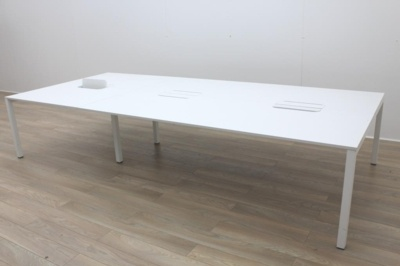 White Office Bench Desking