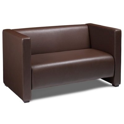 New FLOW Brown High Quality Faux Leather Sofa