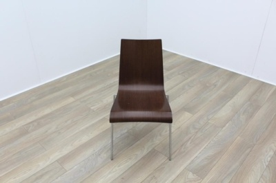 Walnut with Chrome Base Meeting Chair