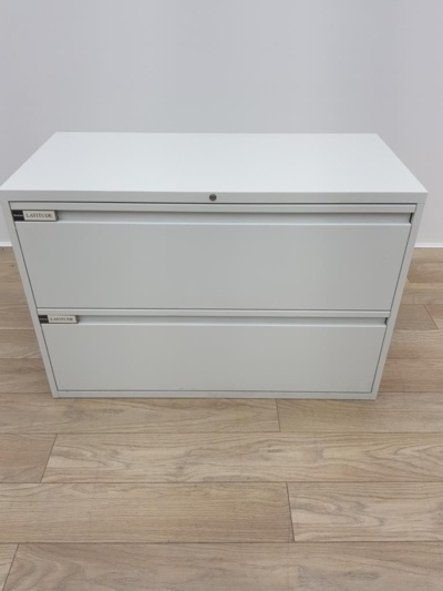Steelcase White Two Drawers Lateral Filer