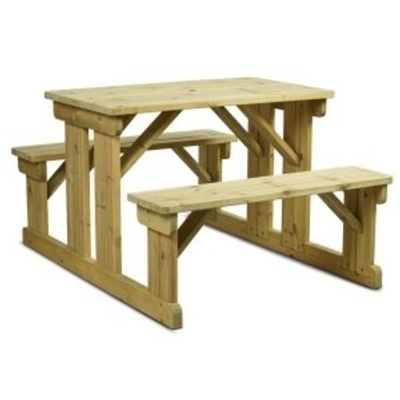 New NEWPORT Timber 6 Seater Picnic Bench