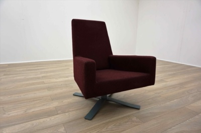 Hitch Mylius hm44 A Burghundy Office Reception Chair