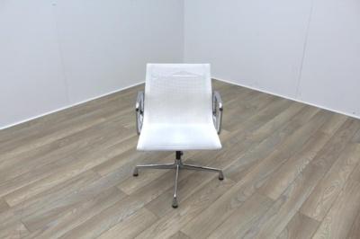 Vitra EA108 Netweave White Mesh Meeting Chair