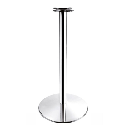 New HAMPTON Chrome Large Round Poseur