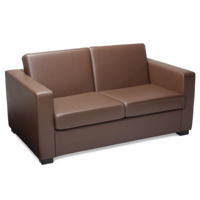New FORT Brown High Quality Faux Leather Sofa