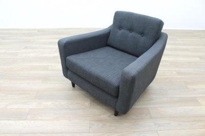 Grey Fabric Office Reception Arm Chair Sofa