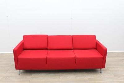 Orangebox 3 Seater Red Sofa