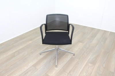Boss Black Mesh Seat Black Fabric Seat Meeting Chair