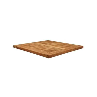 New MALAY Teak 600mm Square Table Top