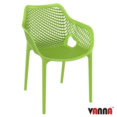 New Green Reinforced Polypropylene & Glass Fibre Stacking Office Canteen Cafe Bistro Arm Chairs