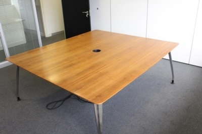 Walnut Verco Meeting Table With Chrome Legs