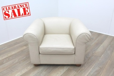 Davidson Highley Cream Lather Reception Armchair