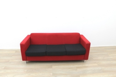 Red 3 Seater Sofa