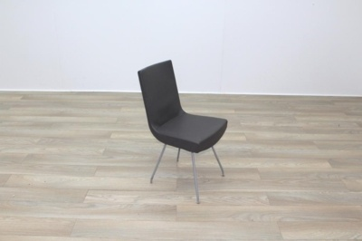 Brown Leather Montis Jim Office Meeting Dining Chairs