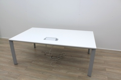White Meeting Table With Cable Management