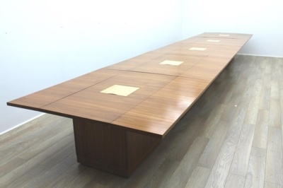 Sven Christiansen 7500mm Modular Walnut / Birds Eye Maple Office Meeting / Training Table
