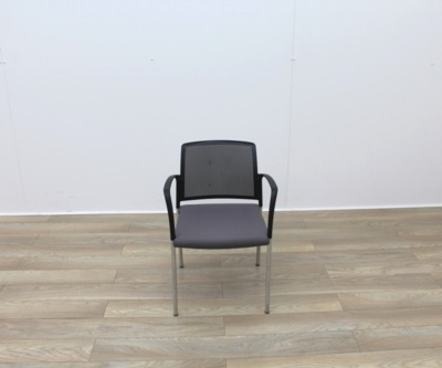 Boss Stacking Meeting Chairs Black Back And Grey Seat