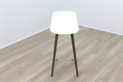 Brunner Fina White Stool High Back