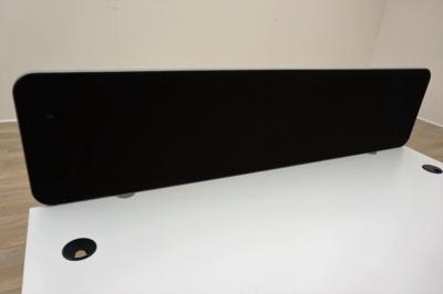 Black Fabric 1600mm Desk Mount Office Dividing Screens