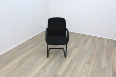 Dark Grey Fabric Meeting Chair