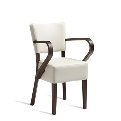 New CLUB Wenge Cream high quality faux leather Luxurious Arm chair