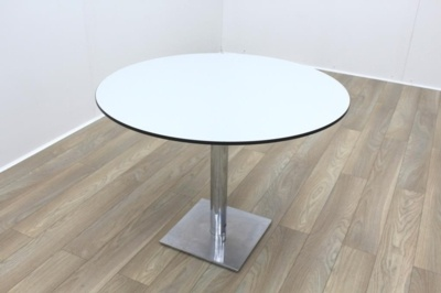 Grey Round Table Black Edge 1000mm