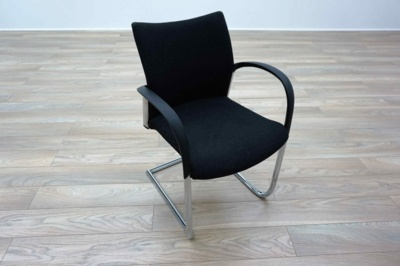 Herman Miller Cantilever Black Fleck Fabric Office Meeting Chairs