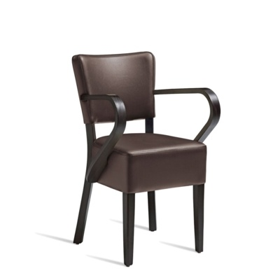 New CLUB Wenge Brown high quality faux leather Luxurious Arm chair