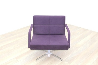 Brunner Purple Fabric Reception Chair
