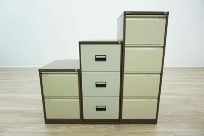 All Brands & Sizes - Coffee & Cream Metal Office Filing Cabinets