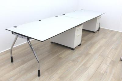 Konig Neurath Grey Operator Desk 1800mmAhrend Grey Operator Desk 1800mm