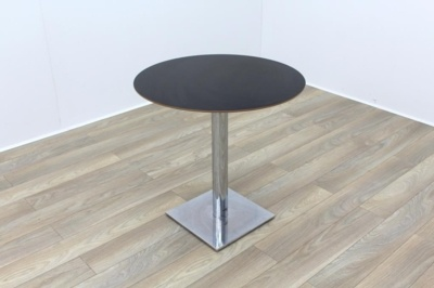 Jet Black Round Table 750mm