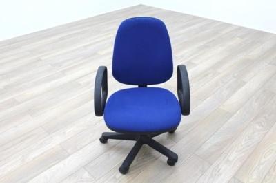 Blue Fabric Adjustable Operator Chairs