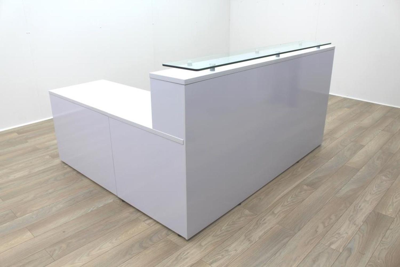 New cancelled order gloss white office reception desk - Reception desk ebay ...