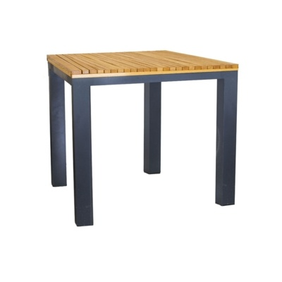 New BENCH Powder Coated Aluminium Frame and Robinia Wood Canteen Cafe Table